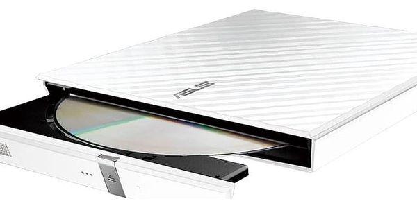 Externí DVD vypalovačka Asus SDRW-08D2S Lite (90-DQ0436-UA161KZ) bílá3