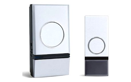Zvonek bezdrátový Solight 1L28, do zásuvky, 200m stříbrný/bílý (1L28)
