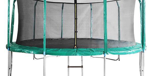 Trampolína DUVLAN SkyJump 457 cm + vnitřní síť + schůdky