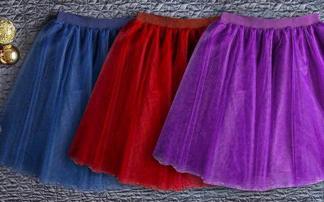 Ručně vyráběné tylové tutu sukně v 5 barvách