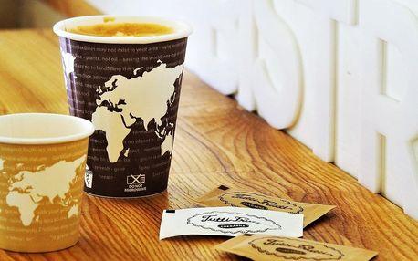 Espresso nebo sójové cappuccino s sebou