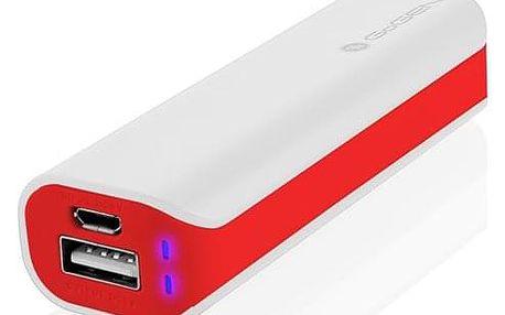Powerbank GoGEN 2600mAh bílá/červená (GOGPB26002WR)
