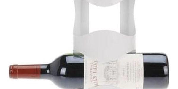 Kovový držák na 4 vinné lahve Excellent, bílá2