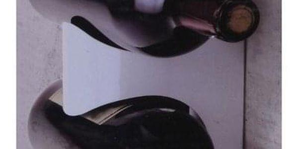 Kovový držák na 4 vinné lahve Excellent, bílá4
