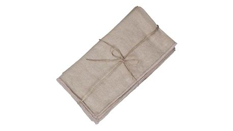 Chic Antique Látkové ubrousky Amiens Linen set 6 kusů, béžová barva, textil