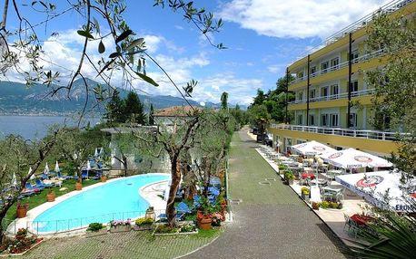 Lago di Garda, hotel Internazionale přímo u proslulého jezera s bazénem