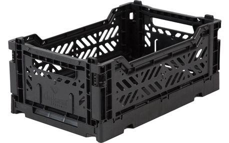 EEF lillemor Skládací přepravka Black - mini, černá barva