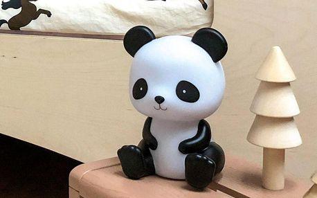A Little Lovely Company Dětské noční světýlko Panda, černá barva, bílá barva, plast