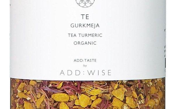 ADD:WISE Kurkumový čaj Te Gurkmeja 220 g, žlutá barva, stříbrná barva, kov, plast