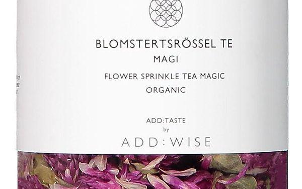 ADD:WISE Květinový čaj z pestrovky kulovité 25 g, růžová barva, kov, plast