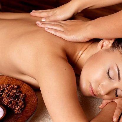 Relaxační masáž aroma olejem dle výběru