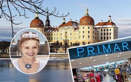Pohádkový Moritzburg: Tři oříšky pro popelku a Drážďany s trhy, autobusem