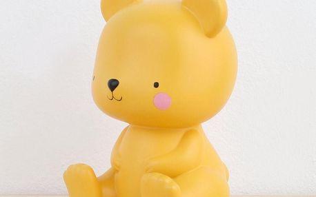 A Little Lovely Company Dětské noční světýlko Salted Caramel Bear, žlutá barva, plast