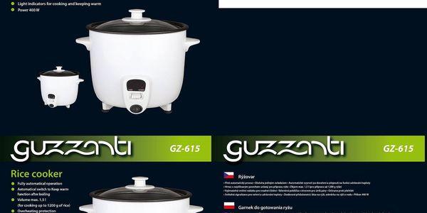 Rýžovar Guzzanti GZ 615 bílý2