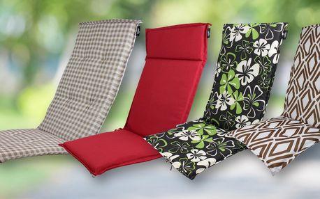 Polstry na zahradní židle a lehátka