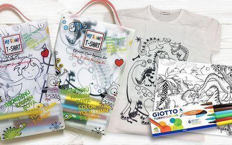 Vodní malování: kreslicí podložky, trička a fixy