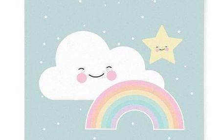 EEF lillemor Plakát do dětského pokojíčku Rainbow A3, modrá barva, multi barva, papír