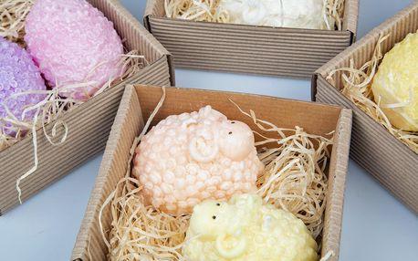 2 voňavé velikonoční svíčky: beránci i vajíčka