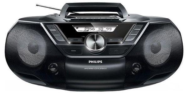 Radiomagnetofon s CD Philips AZ787 černý (AZ787/12)