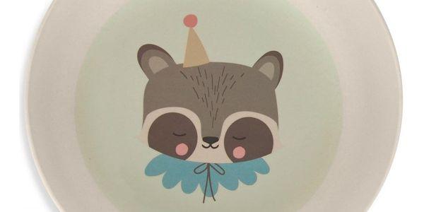 EEF lillemor Bambusové nádobí pro děti Circus Raccoon - set 5 ks, zelená barva, béžová barva4