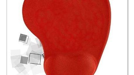 Podložka pod myš Trust BigFoot Gel Mouse Pad, 23 x 20 cm červená (20429)
