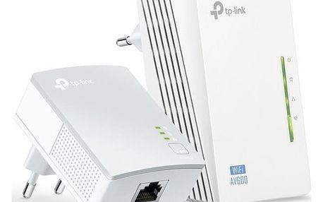Síťový rozvod LAN po 230V TP-Link TL-WPA4220 KIT + IP TV na 1 měsíc ZDARMA (TL-WPA4220KIT) bílý
