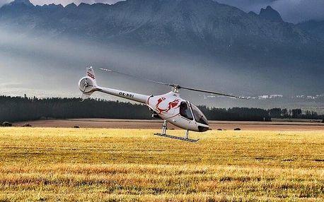 Výlet vrtulníkem okolo Hradce