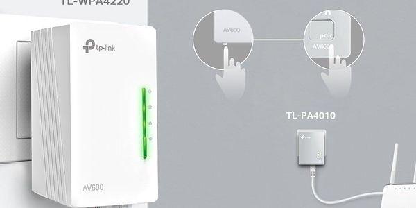 Síťový rozvod LAN po 230V TP-Link TL-WPA4220 KIT + IP TV na 1 měsíc ZDARMA (TL-WPA4220KIT) bílý + DOPRAVA ZDARMA3