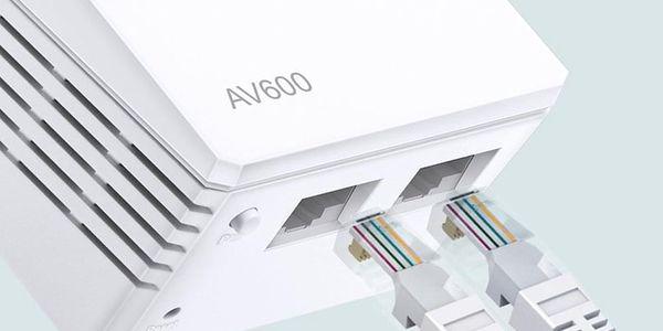 Síťový rozvod LAN po 230V TP-Link TL-WPA4220 KIT + IP TV na 1 měsíc ZDARMA (TL-WPA4220KIT) bílý + DOPRAVA ZDARMA4