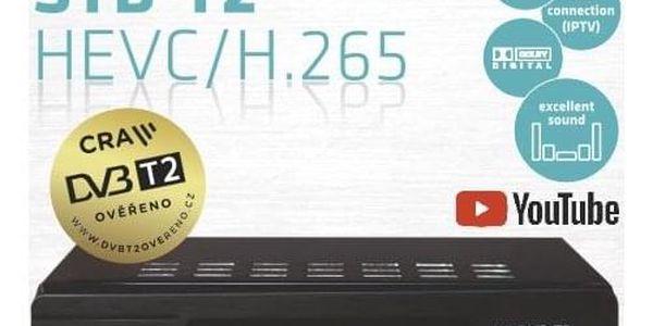 Set-top box Maxxo T2 HEVC/H.265 + wifi adaptér černý3