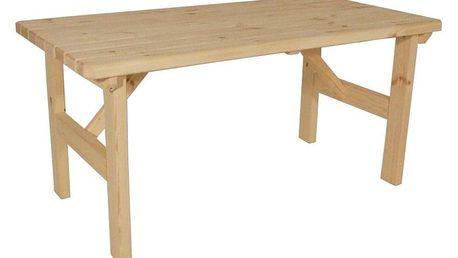 Gaboni Darina 55332 Zahradní dřevěný stůl - bez povrchové úpravy - 160 cm