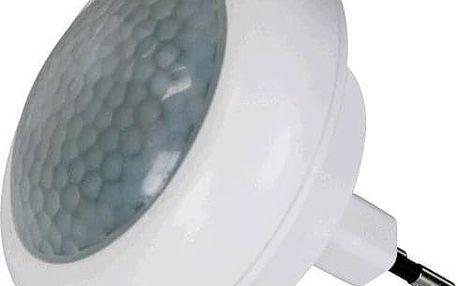 Noční světlo EMOS do zásuvky, 8 x LED s PIR čidlem bílé (1456000040)