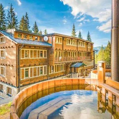 Nízké Tatry: legendární hotel Björnson s polopenzí, finskými káděmi a grilem
