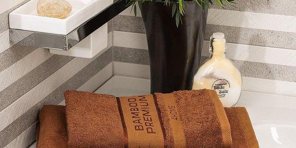 4Home Sada Bamboo Premium osuška a ručník hnědá, 70 x 140 cm, 50 x 100 cm5