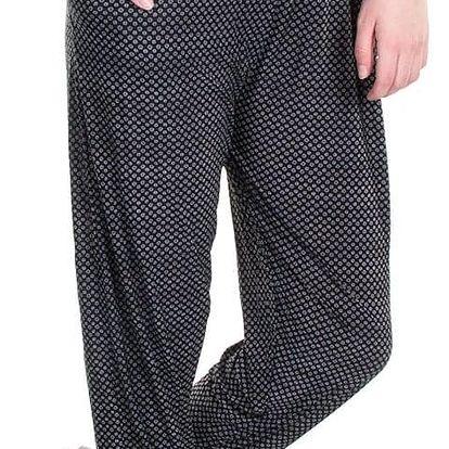Dámské kalhoty ELEUEX ETNO drobné kytky joga relax