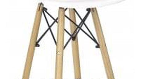Barová židle H-51 (masivní dřevo/bílá) - ★ SLEVA ve výši DPH - najdeš ji v košíku! + SLEVA DPH v KOŠÍKU