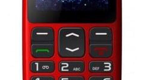 Telefon pro seniory Winner WG8, červená, ROZBALENO - ★ Dodatečná sleva v košíku 15 %