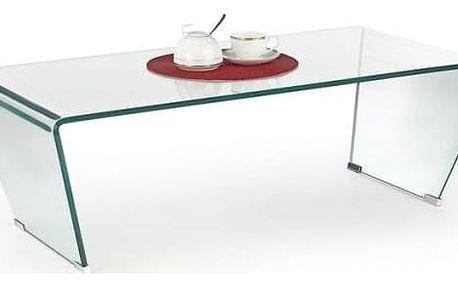 Konferenční stolek Olimpia - skleněný ohýbaný (transparentní)