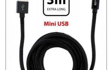 Kabel WG Mini USB na USB, 3m, černá - ★ SLEVA ve výši DPH - najdeš ji v košíku! + SLEVA DPH v KOŠÍKU