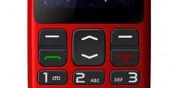 Telefon pro seniory Winner WG8, červená