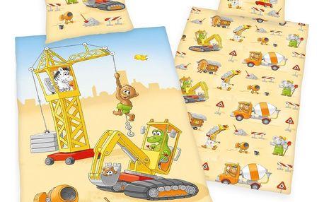 Herding Dětské bavlněné povlečení Malý stavitel, 140 x 200 cm, 70 x 90 cm