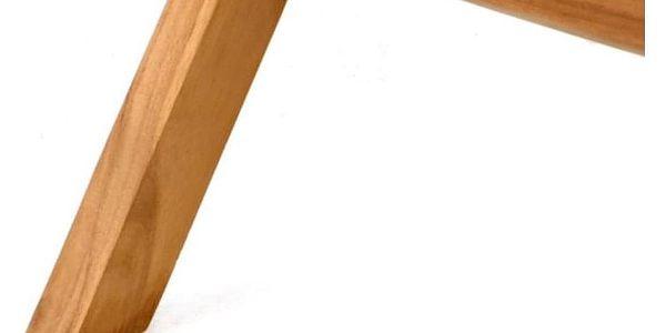 DIVERO 2211 kulatý zahradní stolek z týkového dřeva, Ø 80 cm2
