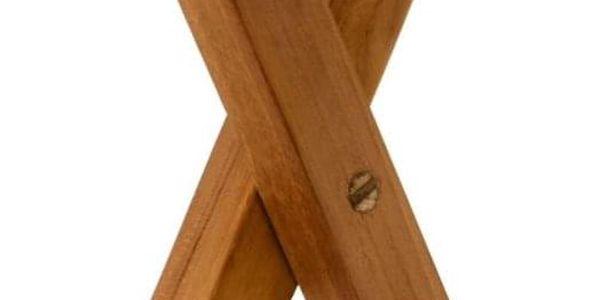 DIVERO 2211 kulatý zahradní stolek z týkového dřeva, Ø 80 cm3