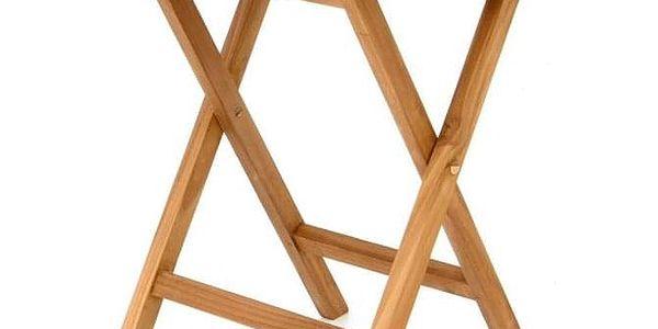 DIVERO 2211 kulatý zahradní stolek z týkového dřeva, Ø 80 cm