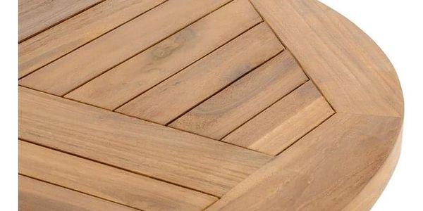 DIVERO 2211 kulatý zahradní stolek z týkového dřeva, Ø 80 cm5