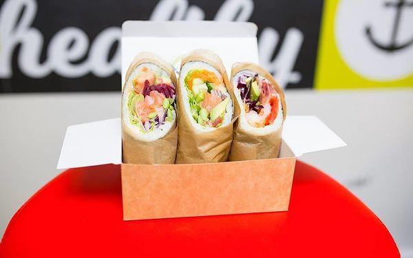 Když Japonsko miluje Mexiko: sushi burrito menu s rybou nebo krevetami4
