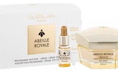 Guerlain Abeille Royale dárková kazeta proti vráskám pro ženy denní pleťová péče 50 ml + pleťové sérum 5 ml + péče o oční okolí 5 ml