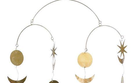 Bloomingville Závěsná dekorace - Gold Sky, zlatá barva, kov