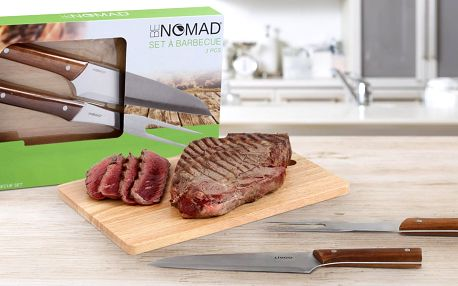 Sada na grilování: prkénko a steakový příbor