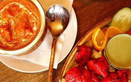 Indické menu dle výběru pro 2 osoby v Moti Mahal